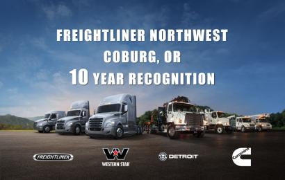 Freightliner Northwest Coburg – 10 Year Dealer Recognition