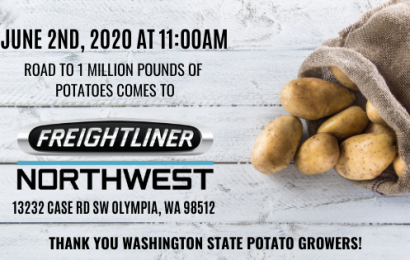Road to 1 Million Pounds of Potatoes Reaches Freightliner Northwest Olympia